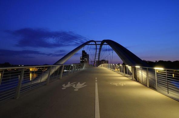 Three Countries Bridge (Germany-Switzerland-France) -by Wladyslaw/Wikimedia.org