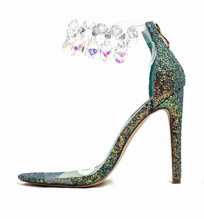 Rhinestone Chandelier Sandals Click