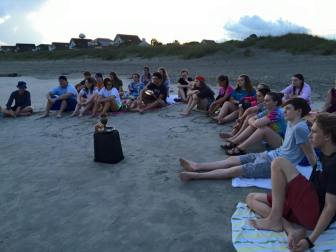 worship on beach