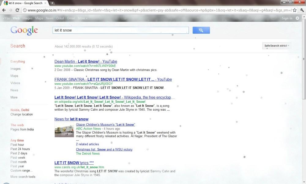 Google: Trick#7: Let It Snow