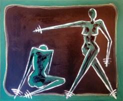 Donne V - oil on canvas 38 cm x 46 cm