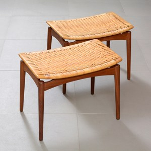 Pair of teak stools