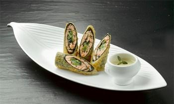 Laks tempura roll