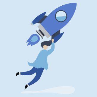 ilustracao-de-homem-segurando-foguete-representando-as-boas-perspectivas-para-2020