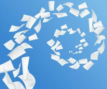 foto-de-fundo-azul-com-papeis-voando-simbolizando-as-burocracias-para-abrir-uma-empresa
