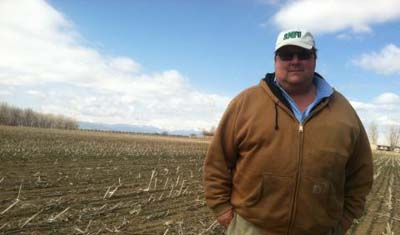 Fourth-generation farmer Kent Peppler will have a hard time securing irrigation water this year. The ongoing drought has forced cities to hold on to their supplies, which means Peppler will have to fallow some of his fields in Mead, Colo. (Luke Runyon/Harvest Public Media)