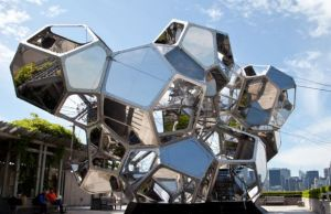 """Tomas Saraceno's """"Cloud City"""" on the roof of the Metropolitan Museum of Art in New York earlier this year."""