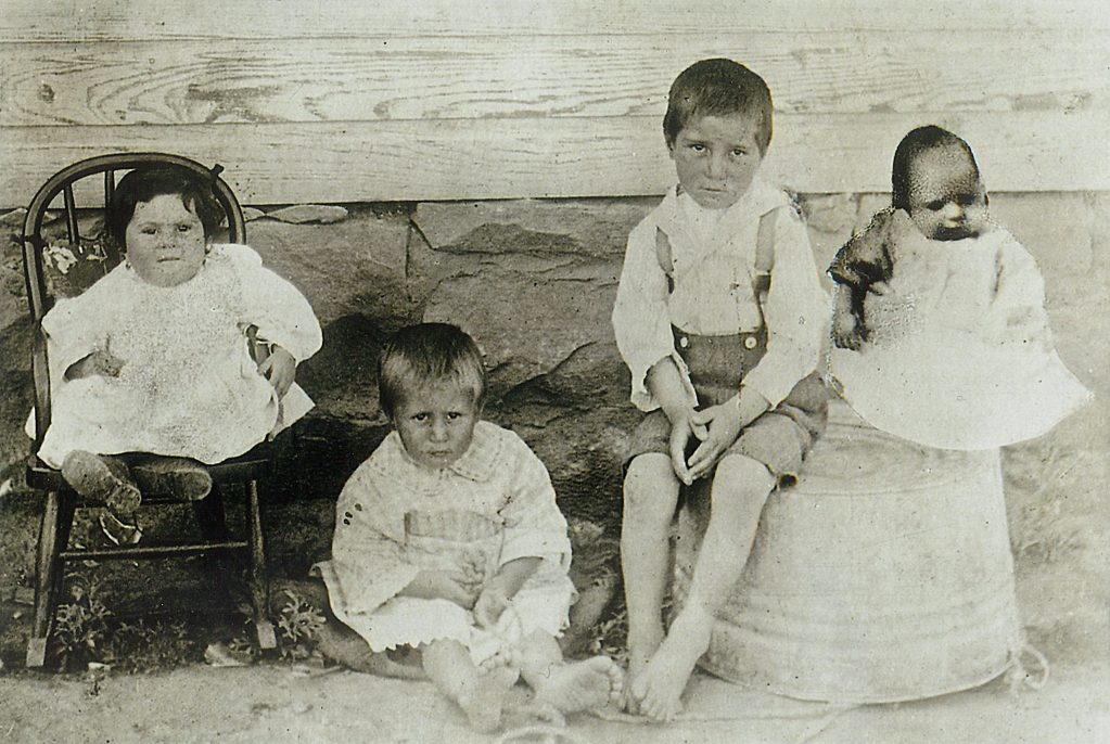Lucy, Joe, Bernard, and Frank Petrucci. Bernard was six years old when he fell ill and died at Ludlow.