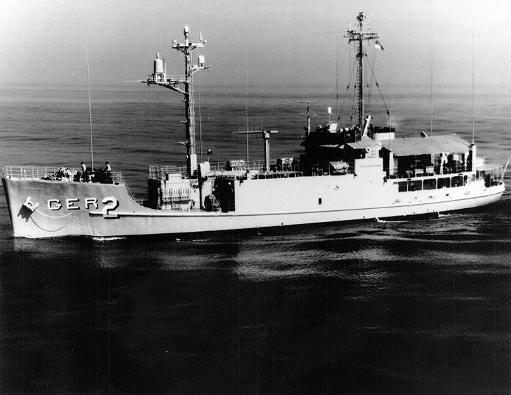 USS Pueblo (AGER-2) off San Diego, California, 19 October 1967
