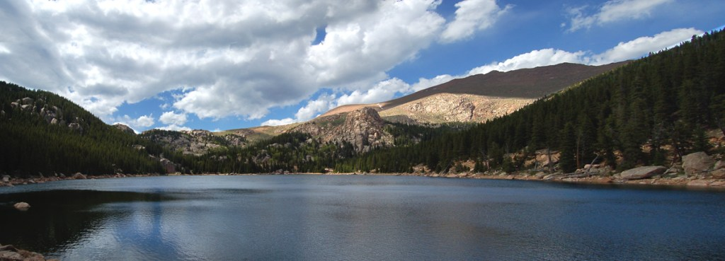 Boehmer Reservoir and Pikes Peak on the South Slope