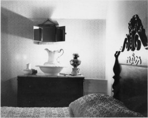 """""""McAllister House Interior"""" by Norman Sams, 1965. Courtesy of Special Collections, Pikes Peak Library District. Image Number: 101-4758."""