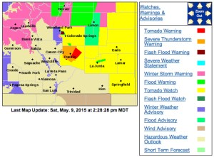 Weather statements from the National Weather Service as of 2:28 PM.