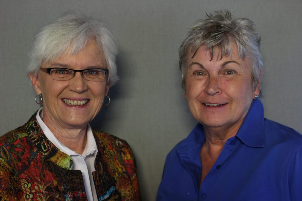 Jan Martin and Mary Lou Makepeace