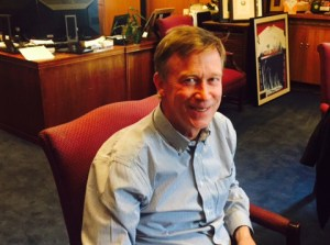 Governor John Hickenlooper sat down to talk with statehouse reporter Bente Birkeland about the greater sage grouse and other topics.