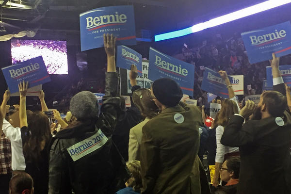 Democrats gathered in Loveland for the state convention where Bernie Sanders won the most delegates.