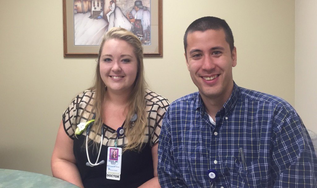 Residents Natalie Krier and  Pete Banchuin work as interns at North Colorado Family Medicine in Greeley. But they will spend the final two years of their residency in Sterling as part of a new rural track training program for family physicians.