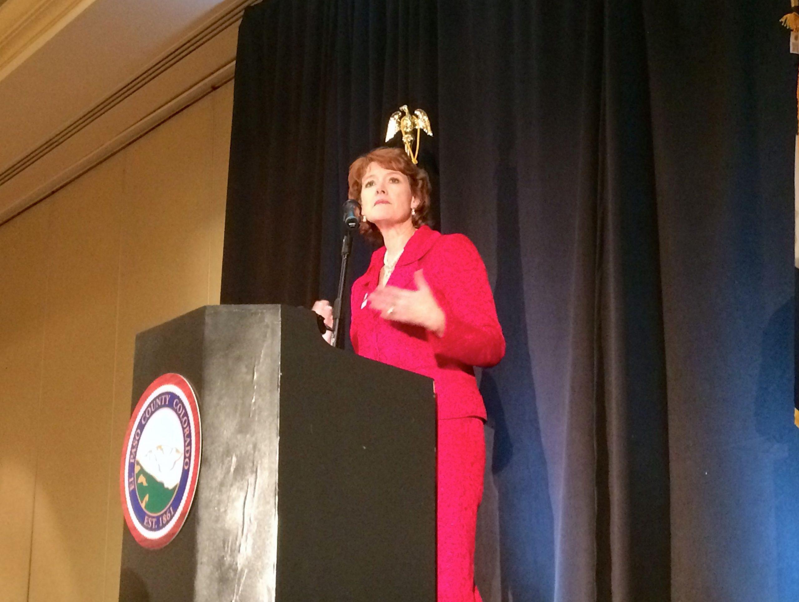 Sallie Clark delivered the address.