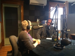Mike and Noreen in the 91.5 KRCC studios