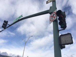 Many traffic lights lost power during Monday's wind storm. A traffic light that is down should be treated as a 4-way stop.