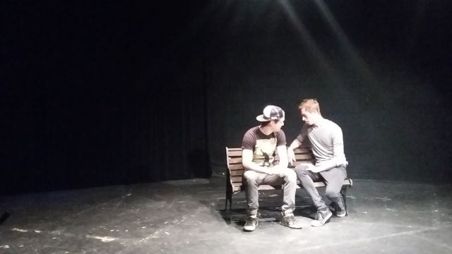 Bryan Dufaud and Josh Boehnke perform in LAST DANCE by David Matthew Barnes at last year's festival.