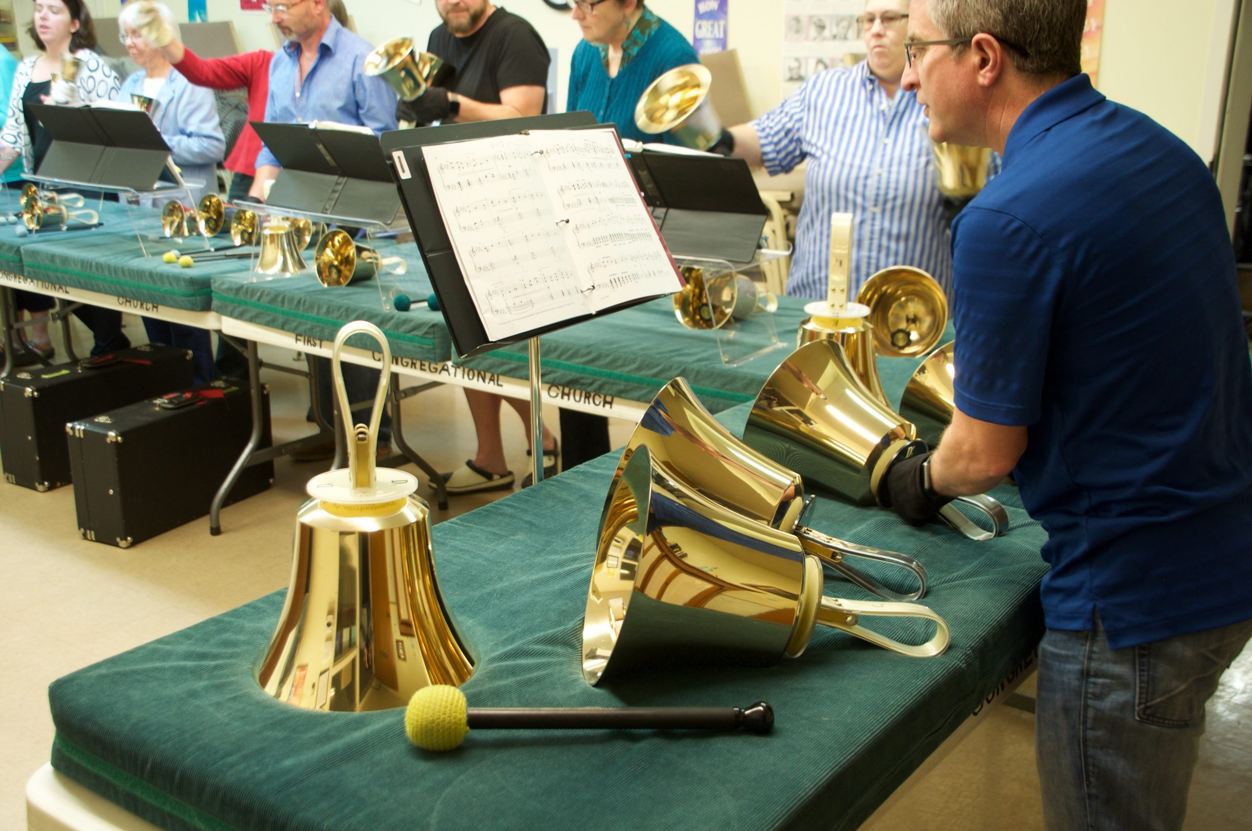 The Bells of St. Vrain handbell ensemble.