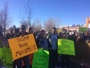 Monticello Bears Ears protest on Dec. 29th.
