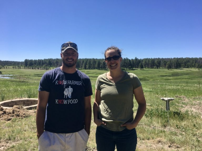 Left to right: Mike Preisler, founder of A Grazing Life and Adrienne Larrew, co-owner of Corner Post Meats.