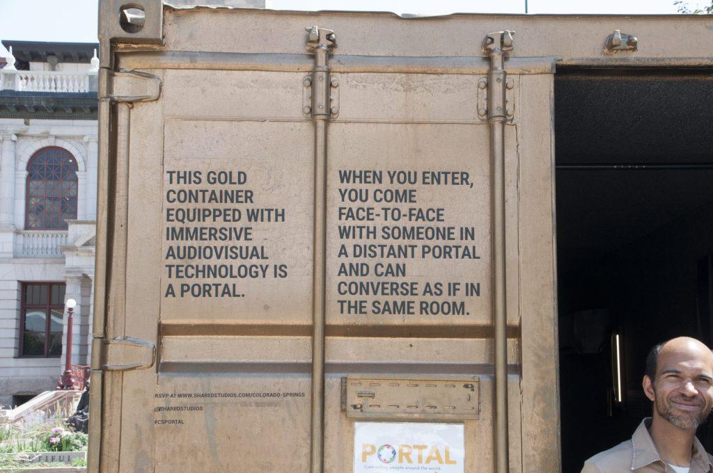 Curator Brian Elyo at the Portal.