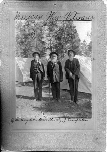 An undated photograph of AJ Templeton (right) with two other veterans of the Mexican-American war.