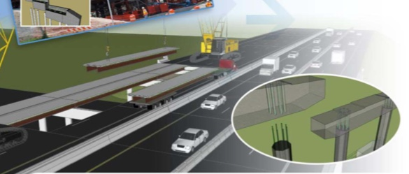 An illustration on the cover of the manual for Accelerated Bridge Construction from the US Department of Transportaion