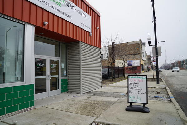 The exterior of a Heartland Alliance Health Center in Chicago.