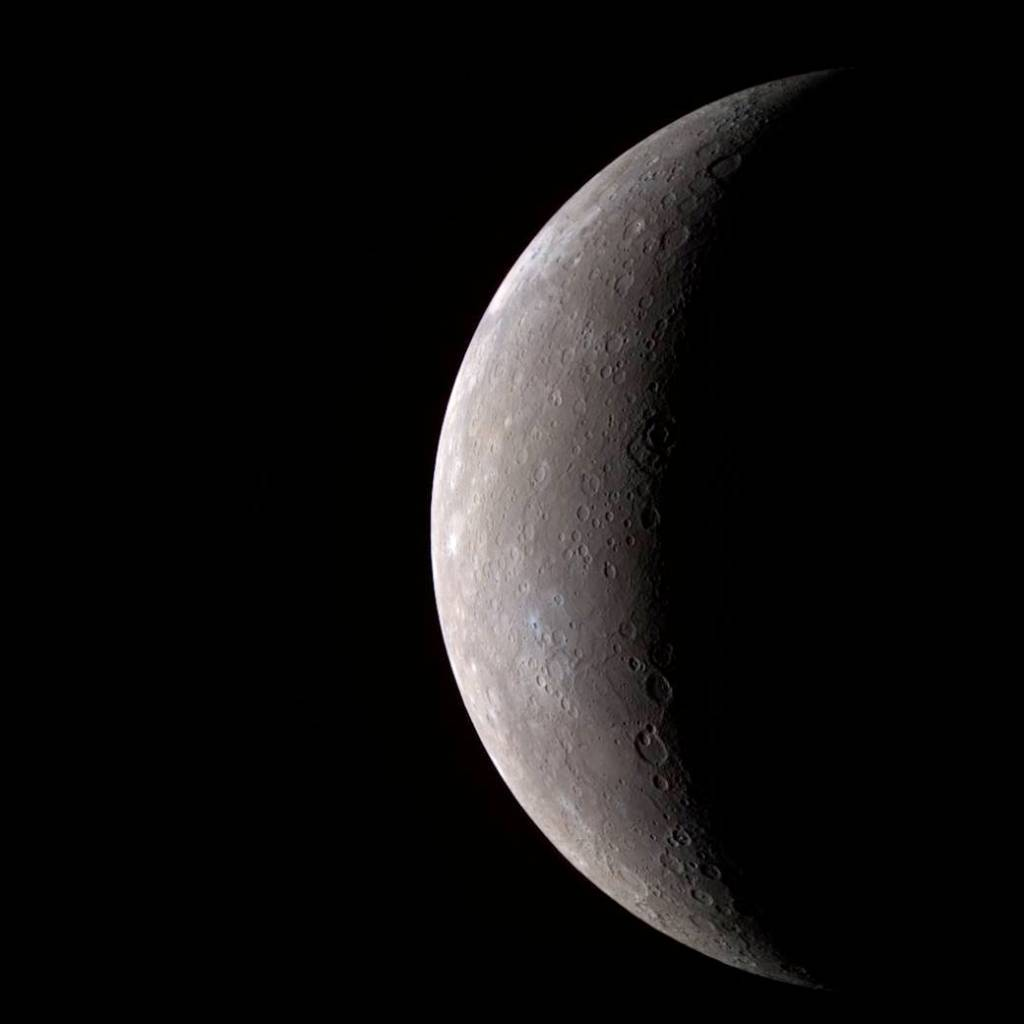 Nope, not the moon - it's Mercury with a splash of color.