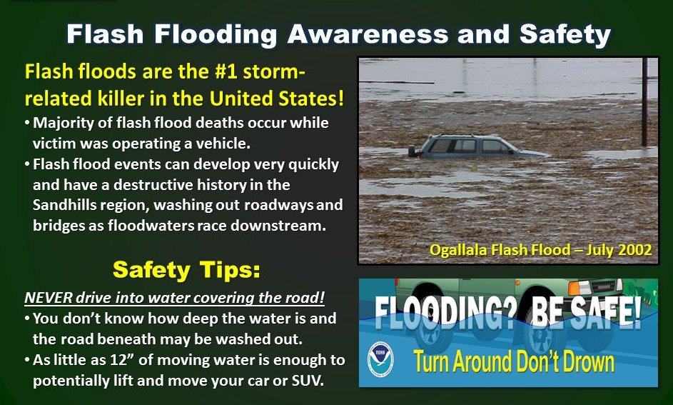 Flood safety tips from the National Weather Service