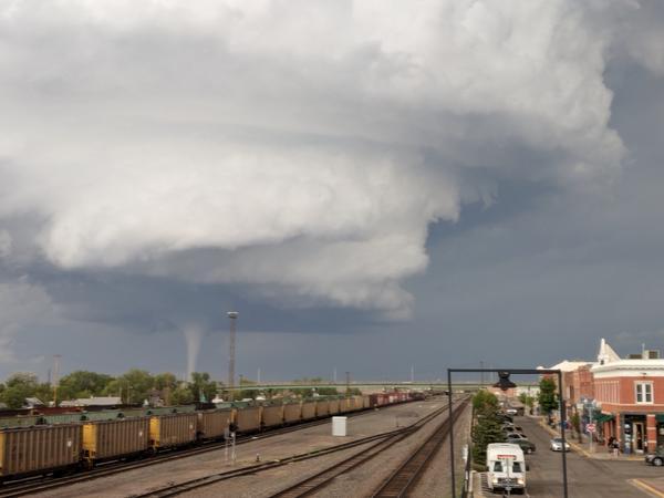 A tornado in Laramie Thursday evening became the focus of social media.