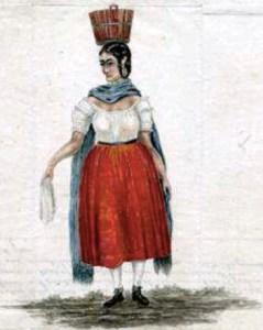 Maria Teresita Sandoval, sketched by Alexander Barclay in 1853.