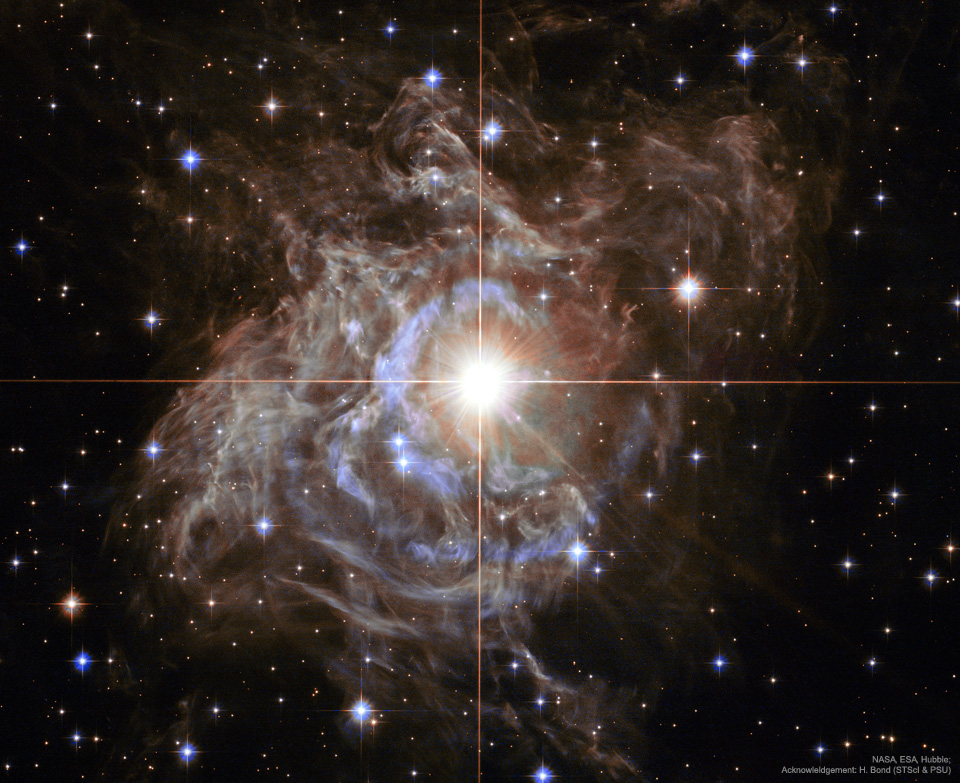 RS Pup is a Cepheid type variable star, a class of stars whose brightness is used to estimate distances to nearby galaxies as one of the first steps in establishing the cosmic distance scale.