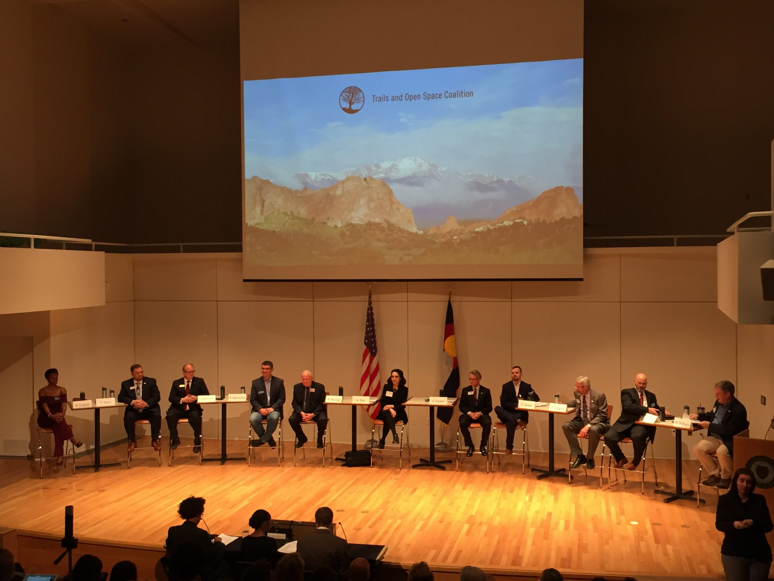 Candidates for three at-large Colorado Springs City Council seats took the stage at Colorado College to debate issues related to the outdoors and environment.