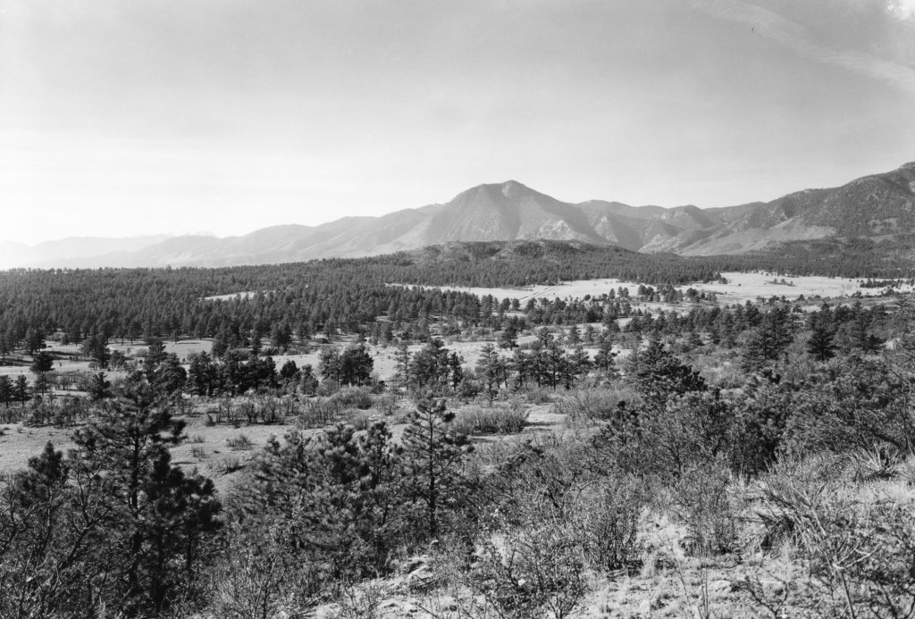 Ansel Adams photographs were taken April 1955, one month prior to the initial design presentation/exhibit at the Colorado Springs Fine Arts Center on Mary 14-15, 1955.