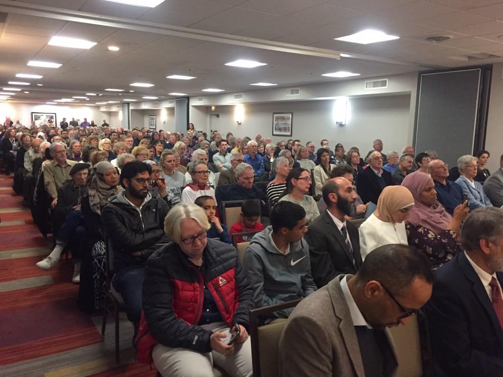 Audience at the interfaith vigil in Colorado Springs