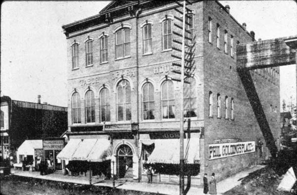 <p>Exterior view of the Tabor Opera House in its earlier years</p>