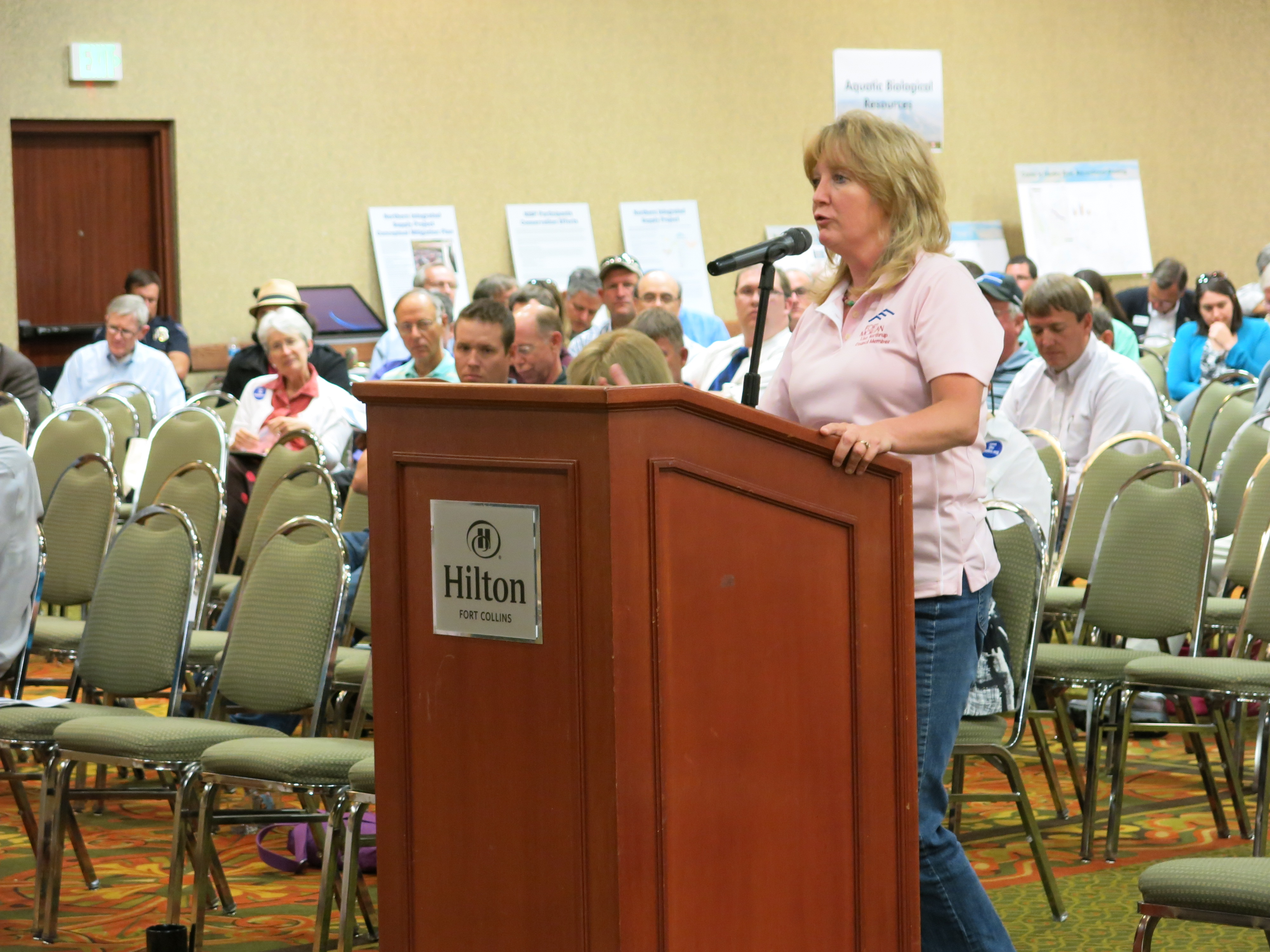 <p>Lisa Northrup, a Fort Morgan city council member, discusses the Northern Integrated Supply Project.</p>