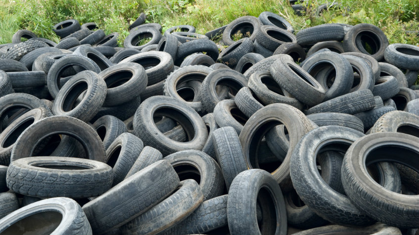 <p>Old tires can be burned for fuel, or ground up for landscaping or road-building material.</p>