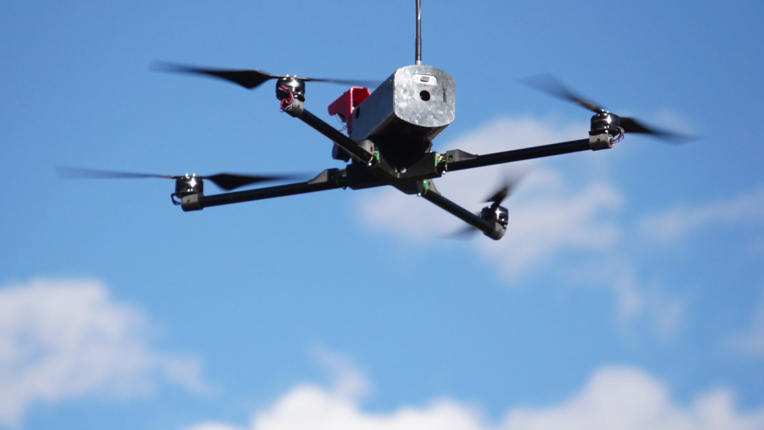 <p>A drone used by Mesa County rescuers in the aftermath of the May 25 landslide.</p>