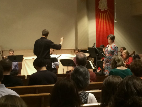 """<p>University of Denver students perform Schoenberg's """"Pierrot Lunaire"""" at Our Father Luthern Church in Centennial.</p>"""