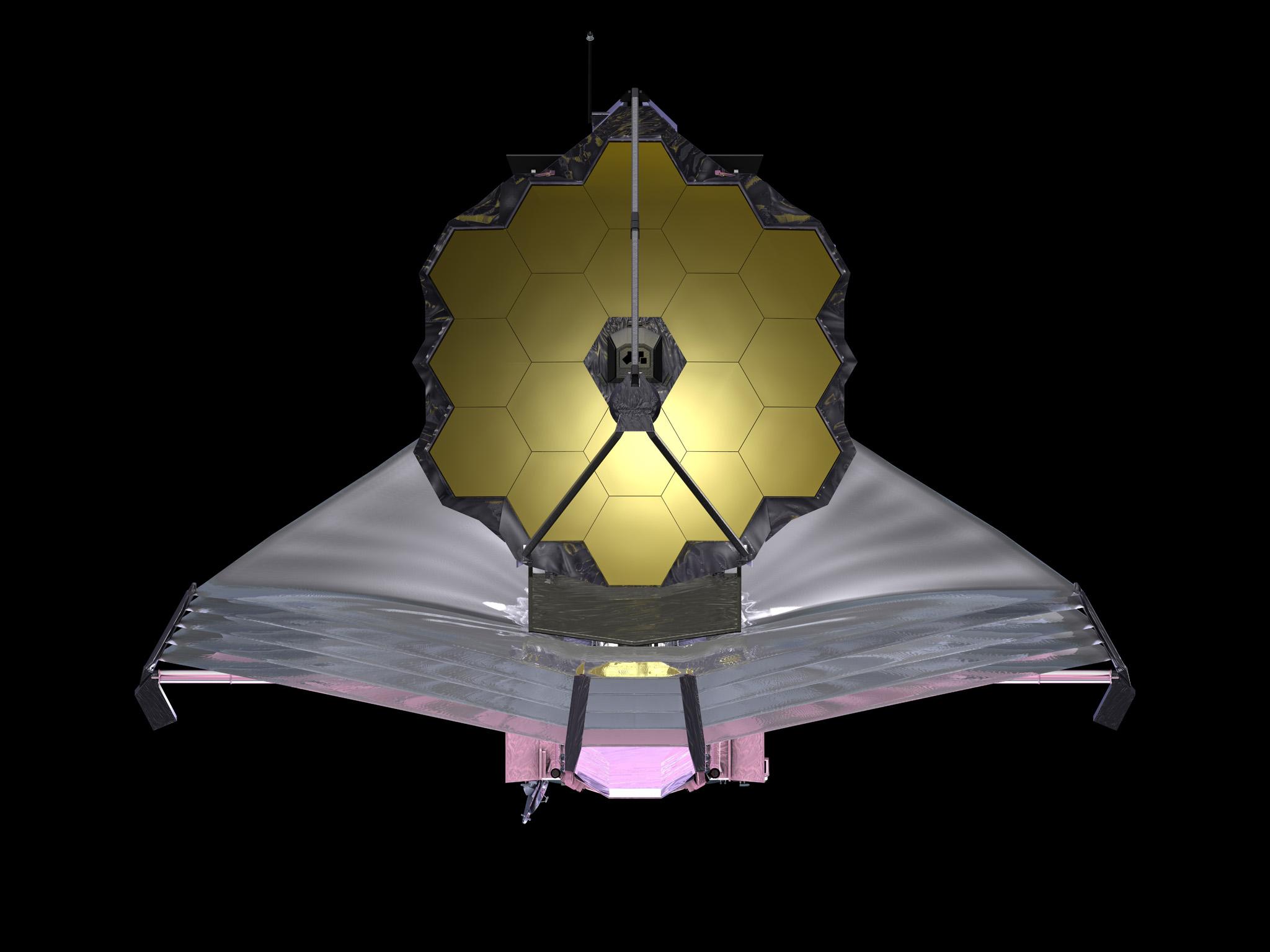 <p>An artist's rendering of the James Webb Telescope</p>