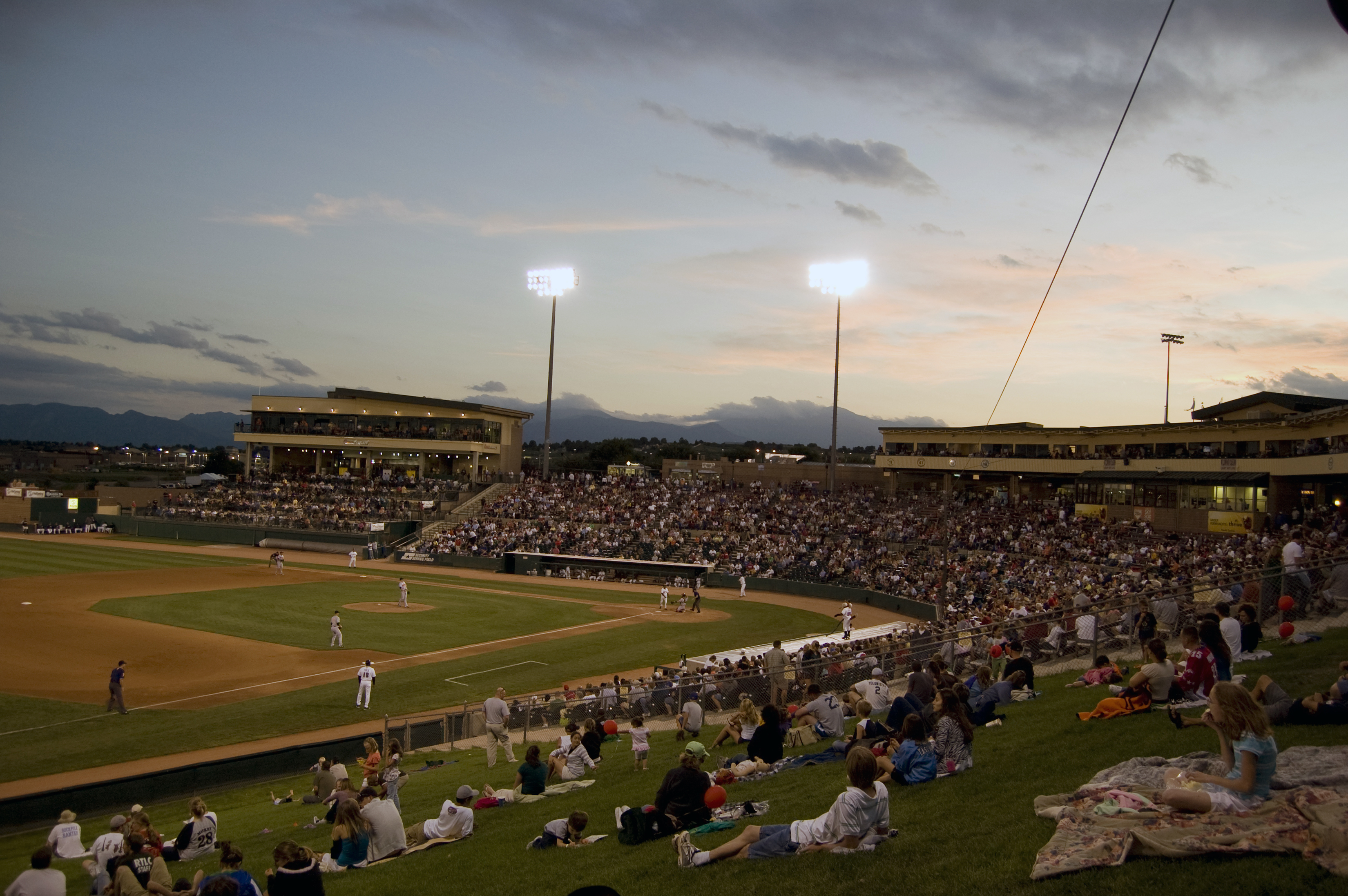 """<p>TheSky Sox, seen here at Security Service Field in <span style=""""color: rgb(64, 69, 64);"""">Colorado Springs</span>, are leaving town. But a new team is on its way, and there's debate over what their name should be.</p>"""