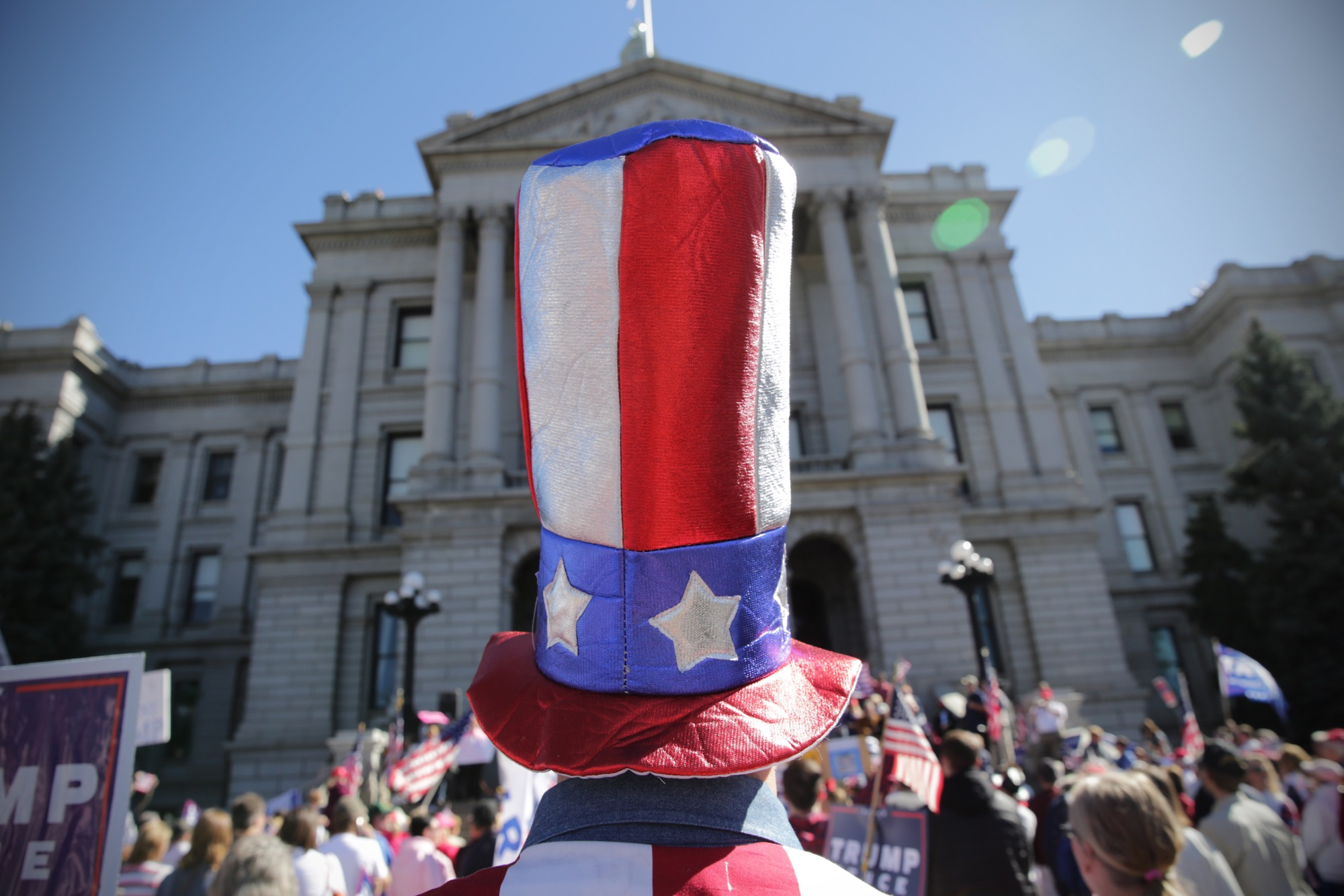 <p>The pro-Trump rally Saturday March 4, 2017 at the state Capitol.</p>