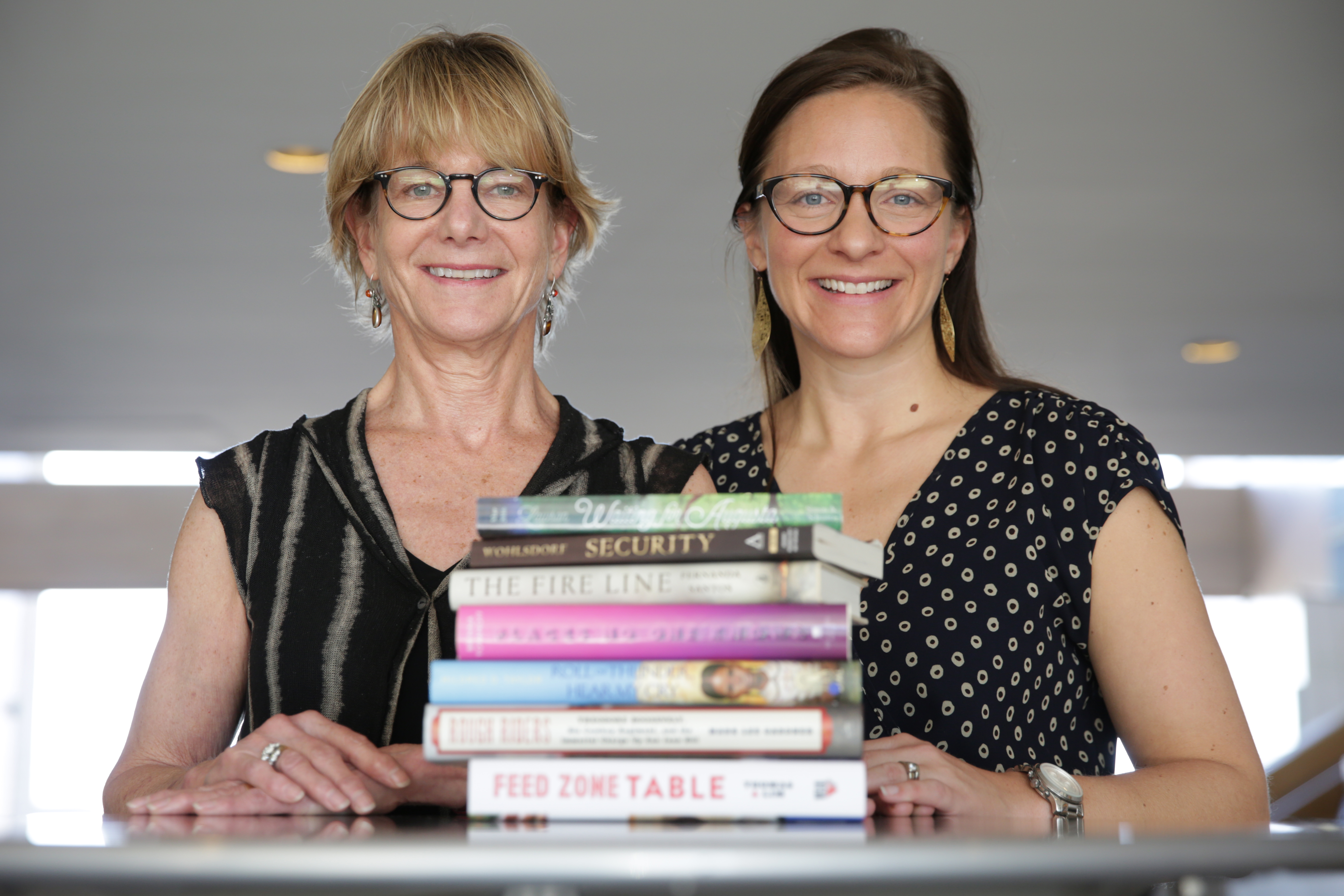 <p>Cathy Langerof the Tattered Cover bookstores and Nicole Magistro of The Bookworm inEdwards.</p>