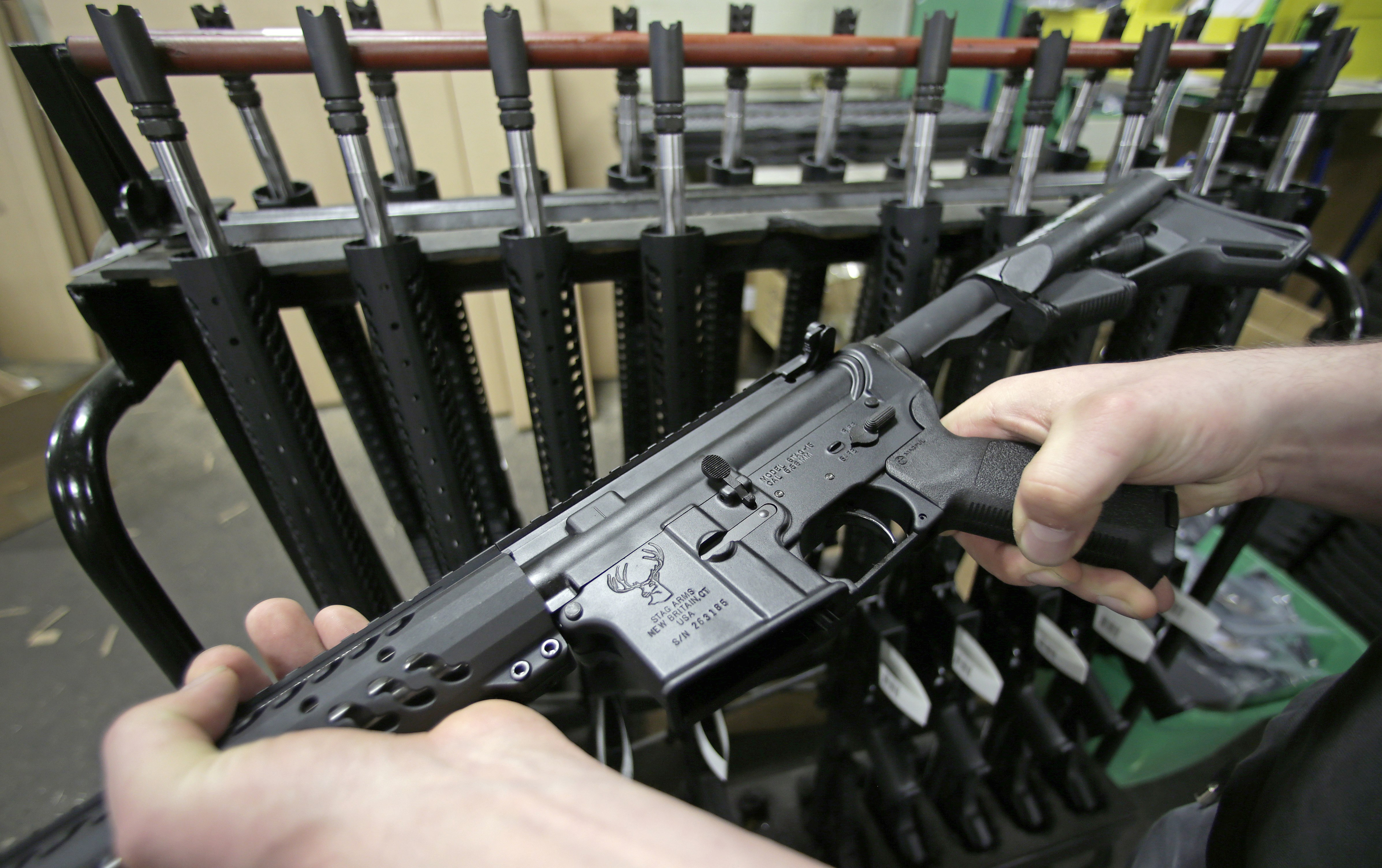 <p>Researchers suggest that new, more powerful weapons are part of the reason gunshot wounds are more deadly. Above, anewly assembled AR-15 rifle at Stag Arms in New Britain, Conn.</p>