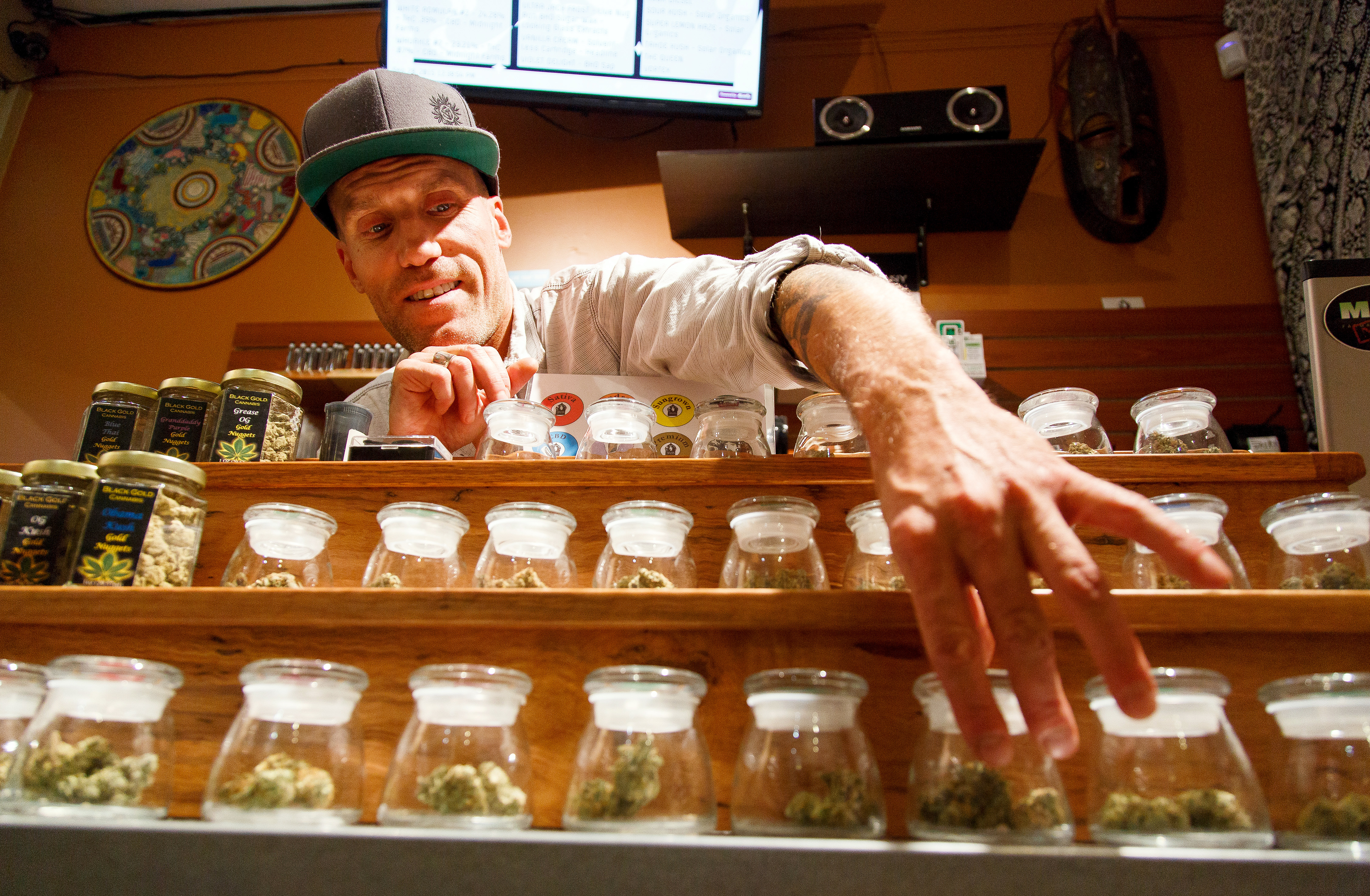 <p>A pot dispensary in Eugene, Ore., on Monday, Sept. 28, 2015.</p>
